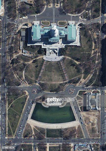 This is a satellite image of Washington DC capital building collected February 28 2002