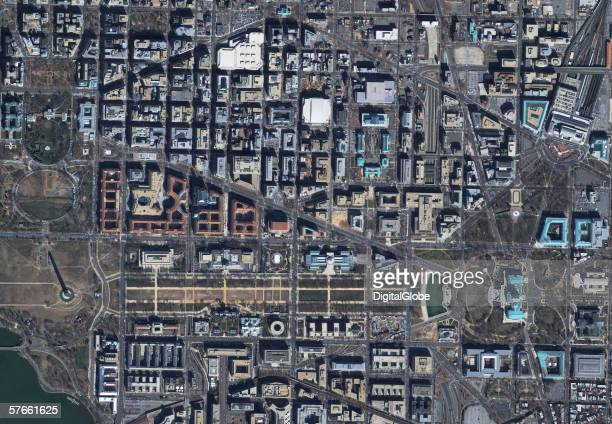 This is a satellite image of Washington DC mall area collected on February 18 2002