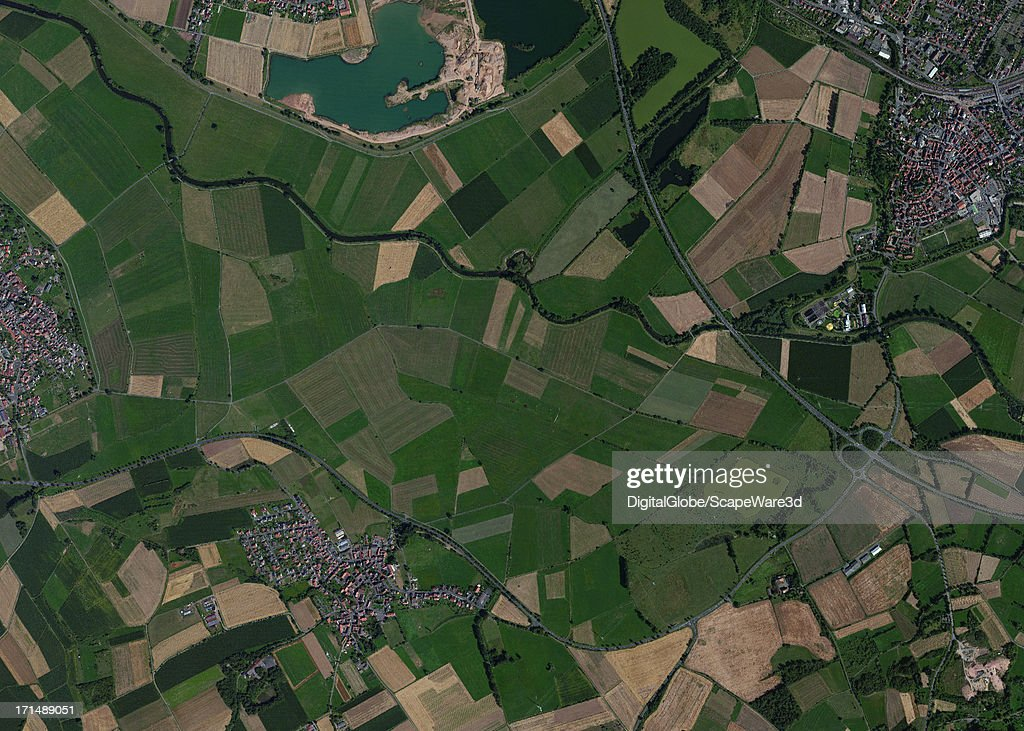 This is a satellite image overview of the Kleinseelheim, Germany area collected on May 5, 2005.