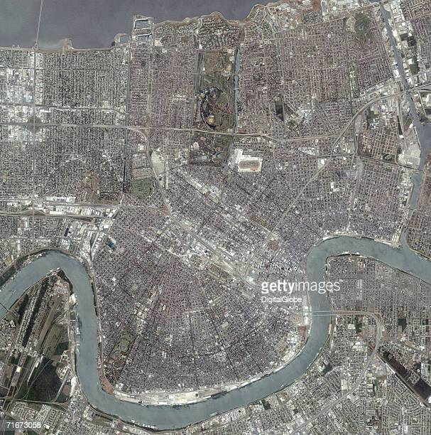 This is a satellite overview image of New Orleans Louisiana collected on June 13 2006