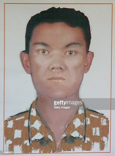 This is a sketch released by Indonesian police in Denpasar of a suspected bomber in the Bali nightclub bombing that occurred in October in Bali...