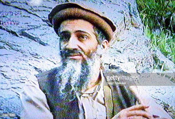 This is a still image taken from a video tape aired on AlJazeerah station September 10 2003 that shows AlQaeda leader Osama Bin Laden in an...
