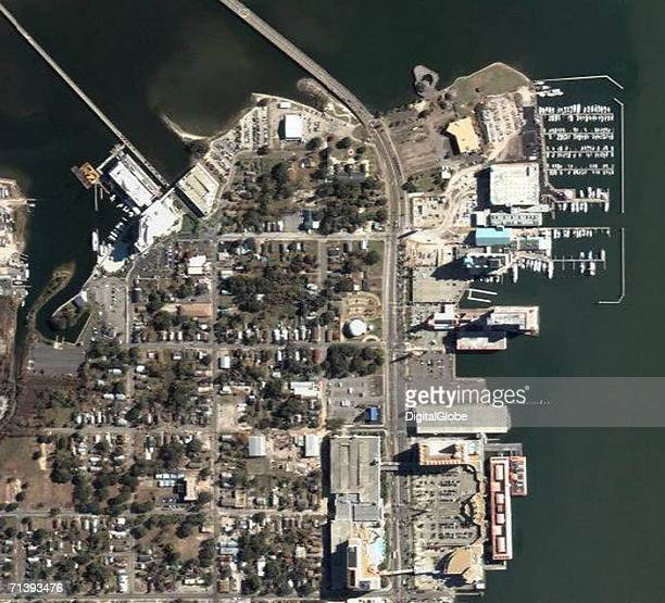 This is a true color satellite image of Biloxi Mississippi collected April 12 2005
