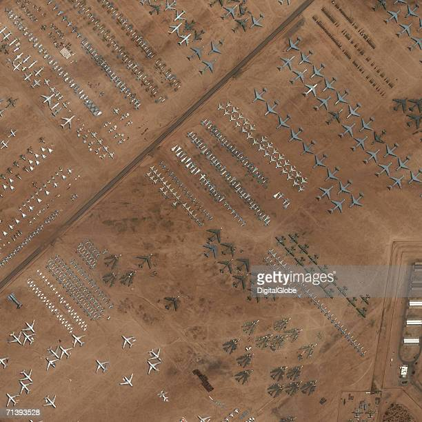 This is a true color satellite image of the 'graveyard' in Tucson Arizona collected on August 11 2002