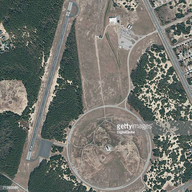 This is a true color satellite image of the Wright Brothers National Memorial in Kitty Hawk North Carolina collected on March 11 2002