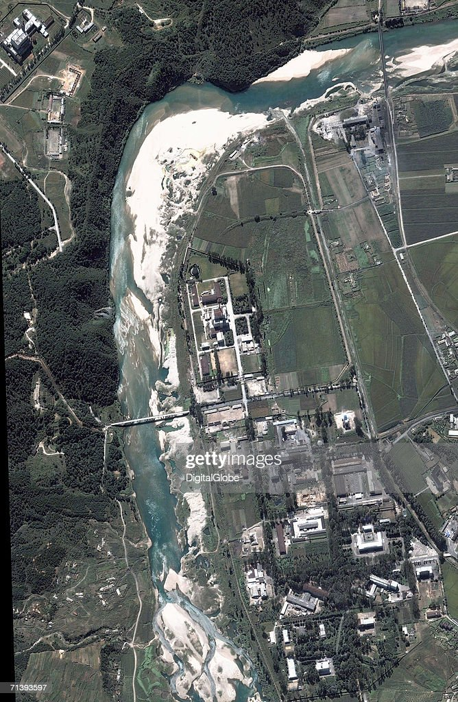 This is a true color satellite image of Yongbyon North Korea collected September 11 2005