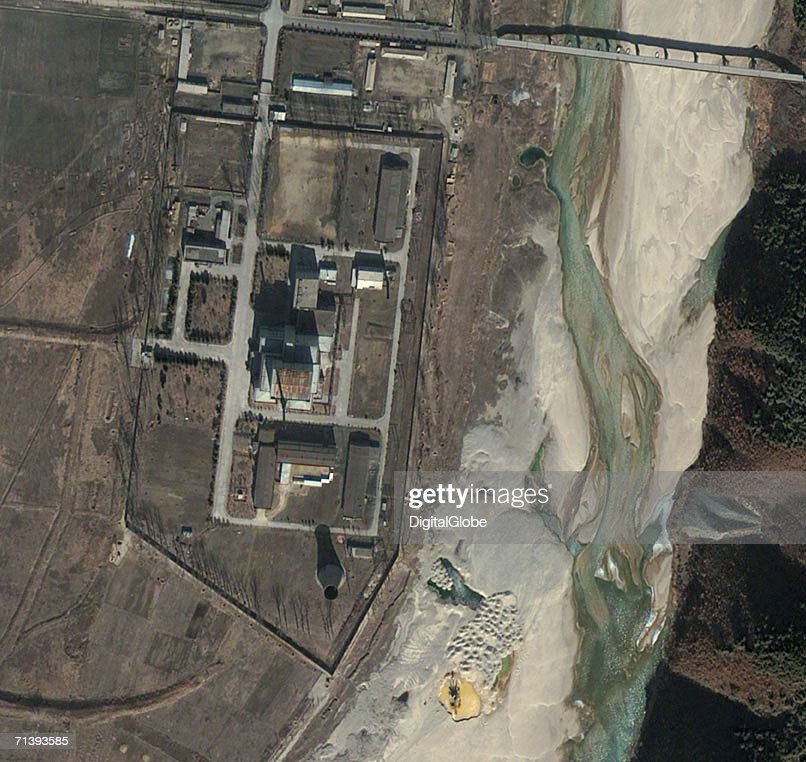 This is a true color satellite image of Yongbyon North Korea collected March 2 2002