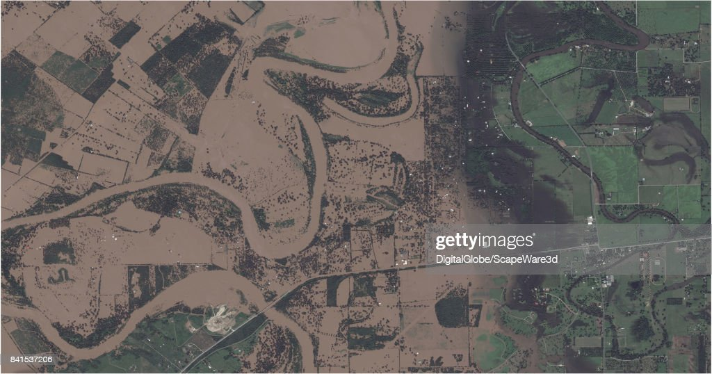This is an 'after' DigitalGlobe satellite imagery of Simonton, Texas -- before Hurricane Harvery.
