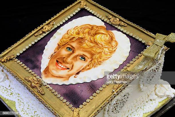 This is an airbrushed cake model of Lady Diana which has been on display at the West Valley Occupational Center as seen in Woodland Hills on June 21...