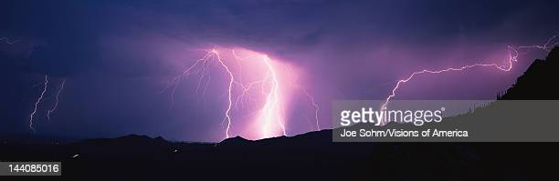 This is an electrical storm in the Tucson Mountains They are ground discharges