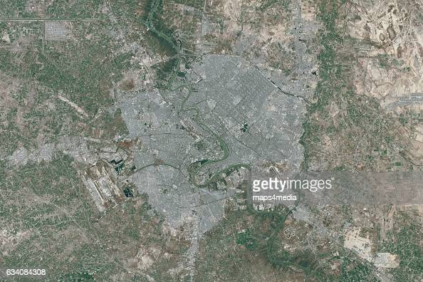 This is an enhanced Sentinel Satellite Image of Baghdad Iraq