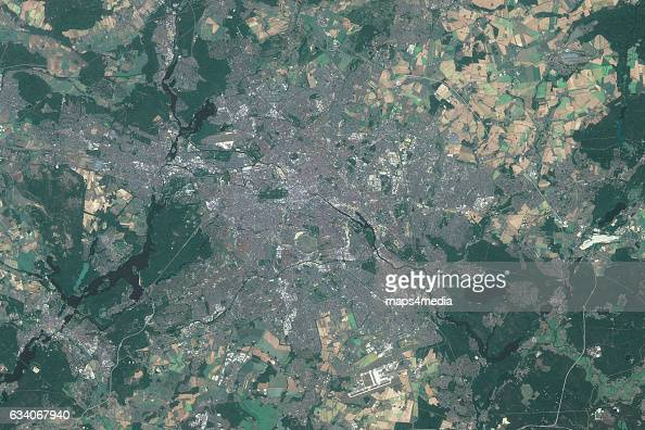 This is an enhanced Sentinal Satellite Image of Berlin Germany