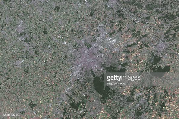 This is an enhanced Sentinel Satellite Image of Brussels Belgium
