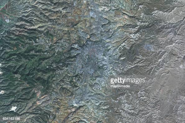 This is an enhanced Sentinel Satellite Image of Jerusalem Israel