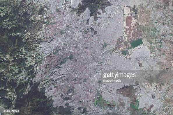 This is an enhanced Sentinel Satellite Image of Mexico City Mexico