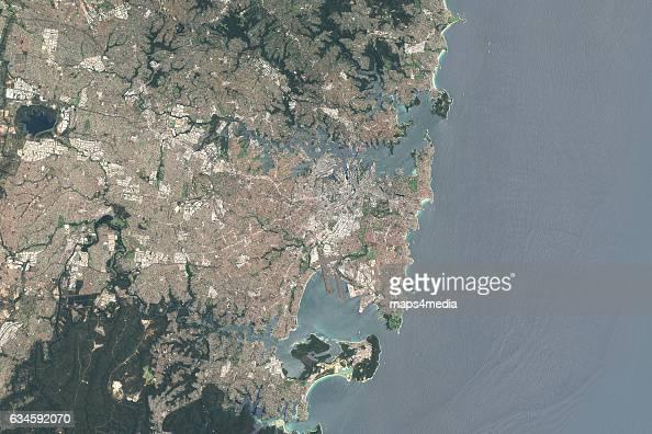 This is an enhanced Sentinel Satellite Image of Sydney Australia