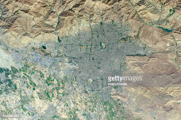 This is an enhanced Sentinel Satellite Image of Tehran Iran