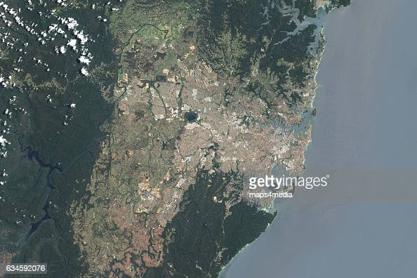 This is an enhanced Sentinel Satellite Image overview of Sydney Australia