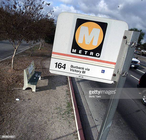 This is an MTA bus sign and bus bench along Victory Blvd in North Hollywood For OP ED^^^/LA Times