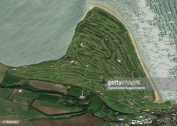This is an overview DigitalGlobe satellite imagery of the Royal Ancient Golf Club of St Andrews Image acquired on May 24th 2013