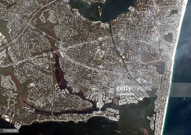 This is an overview satellite image of Point Pleasant New Jersey collected on October 18 2004