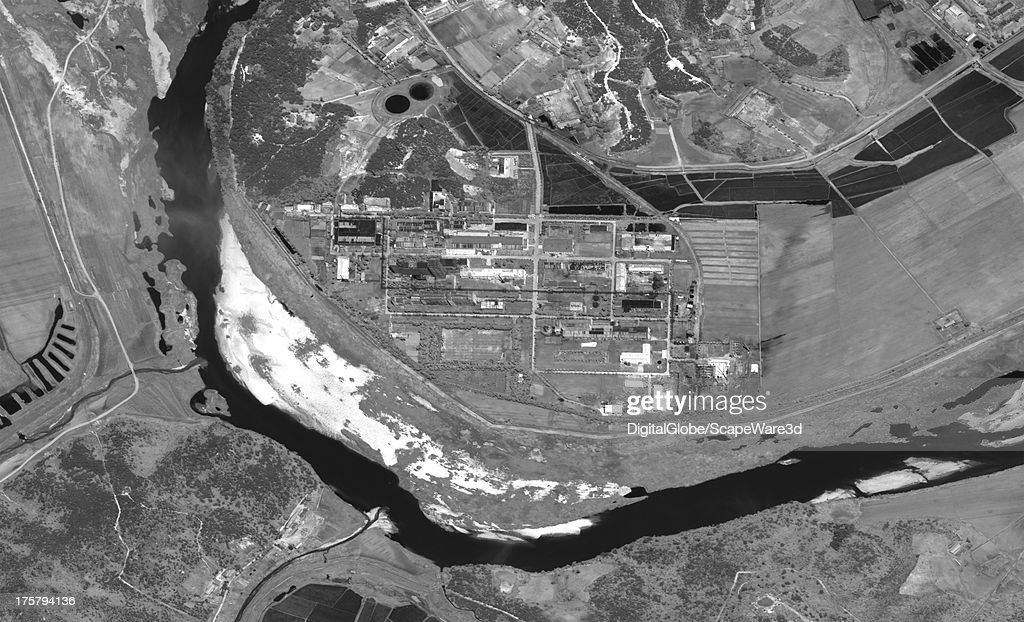 This is an overview satellite image of the Yongbyon, North Korea Fuelfab from June 19, 2013.