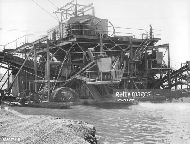 This is Colorado's largest 'vessel' photo above a gravel dredge known as 'Gravel Gertie IV' which was fitted with this 100horsepower engine at the...