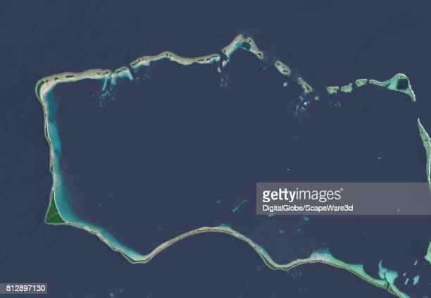 This is DigitalGlobe overview satellite imagery of Mili Atoll in the Marshall Islands It is believed by some to be the crash landing site of Amelia...