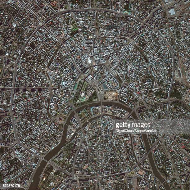 This is DigitalGlobe satellite imagery of Moscow Russia