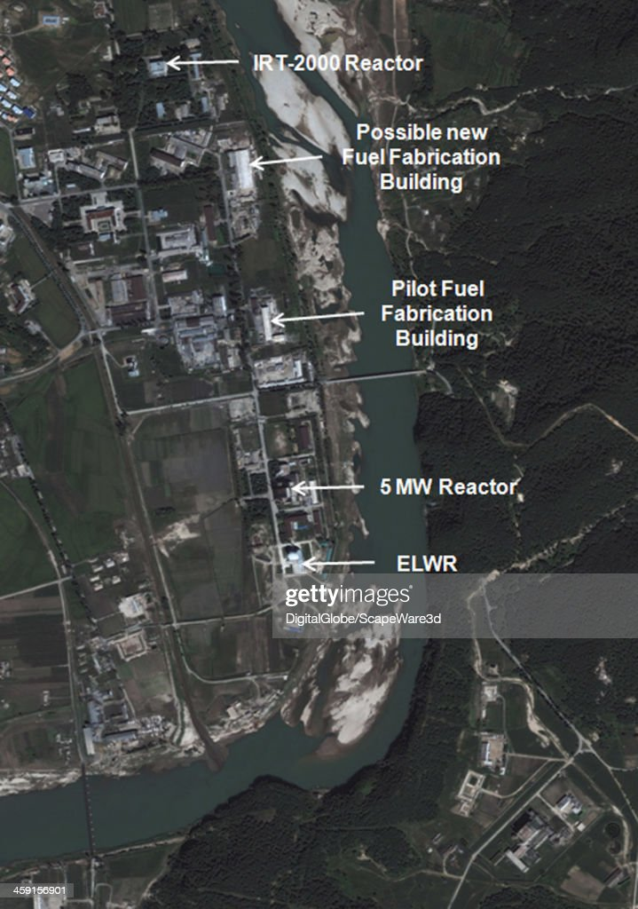 This is Figure 1 DigitalGlobe imagery captured August 31st 2013 of the northern area of the Yongbyon Nuclear Scientific Research Center published on...