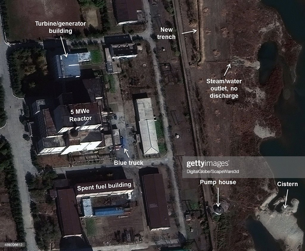 This is Figure 1 DigitalGlobe imagery of the 5 MWe Reactor appears to still be shutdown published on 38 North