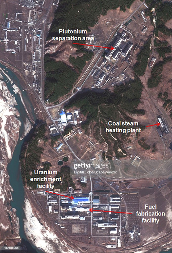 This is Figure 2 DigitalGlobe imagery captured December 2nd 2013 of the southern area of the Yongbyon Nuclear Scientific Research Center published on...