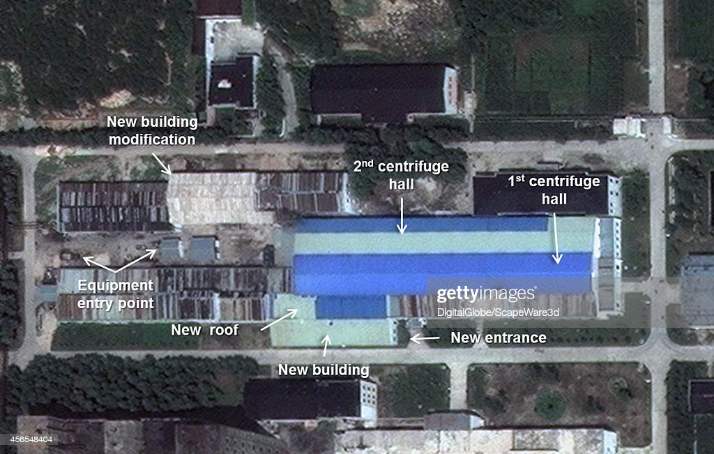 This is Figure 2 DigitalGlobe imagery of construction at the Uranium Enrichment Plant at Yongbyon Image taken on July 29th 2014 published on 38 North