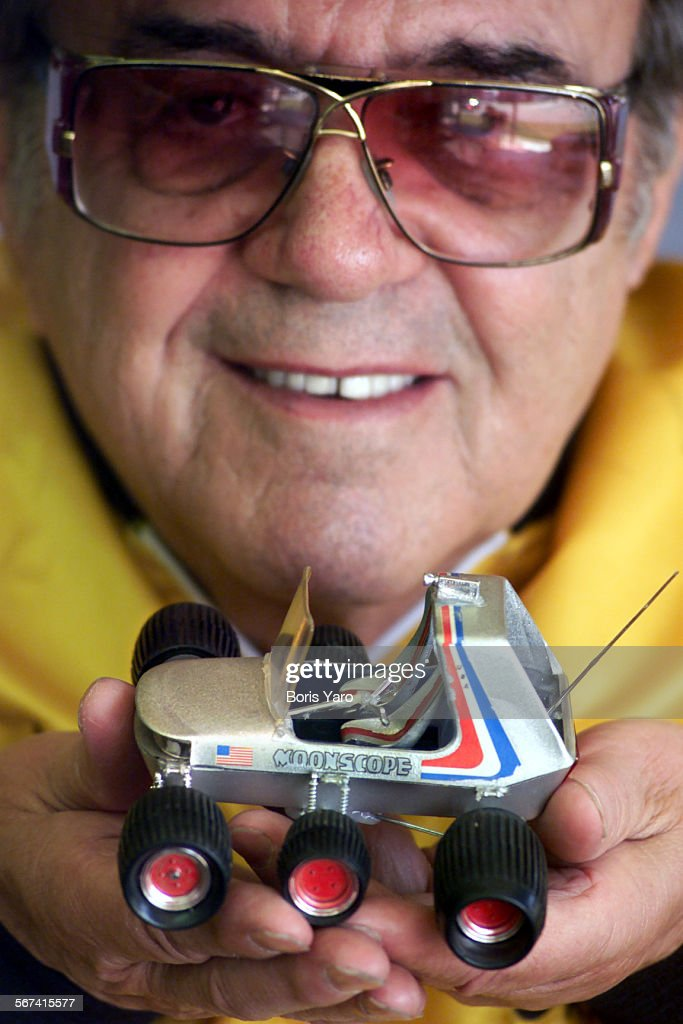 This is George Barris (cq) who owns Barris Kustom Productions in North Hollywood. Barris is best known in the film industry where he has created cars for TV and film ranging from Batman to the Dukes of Hazard. However NASA expressed interest in one of Barris' toy cars that was 30 years old because the suspension system was something they were looking for. ^^^/LA Times