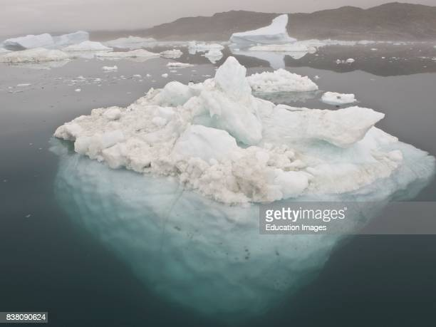 This is ice from the famous glacier Sermeq Kujalleq one of the fastest glaciers on the world producing ten percent of all the icebergs in Greenland...