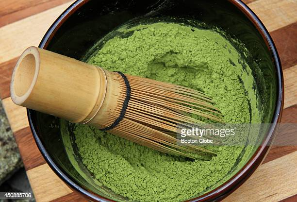 This is matcha the traditional Japanese tea made from groundup whole leaves is the key ingredient in the new beverage Motto