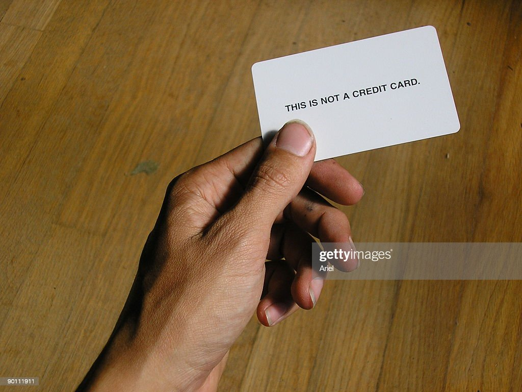 this is not a cradit card : Stock Photo