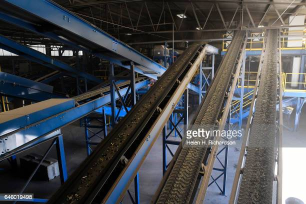 This is some of the high tech equipment used during the recycling process at the new state of the art Momentum Recycling plant on February 27 2017 in...