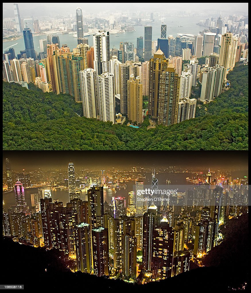 This is the amazing view you get to see once you make your way to the top of Victoria Peak. The transformation that the city makes from day into night is both breath taking and amazing. This is just Central Hong Kong with Kowloon in the background across the harbor. The city skyline actually stretches as far as the eye can see to the left and to the right.