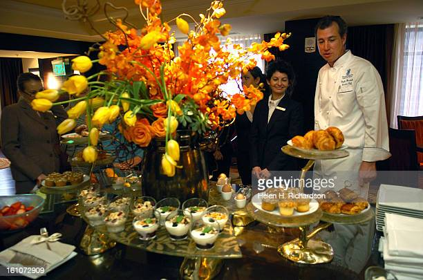 This is the breakfast buffet on the Club Level lounge The Club Level makes up two floors that have 5 food presentations a day have private concierge...