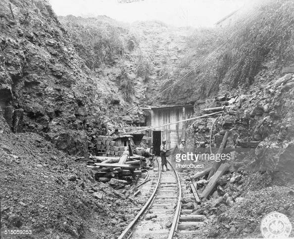 This is the entrance to a very secret German factory found about two miles underground near Thil France October 30 1944 It is believed that parts for...
