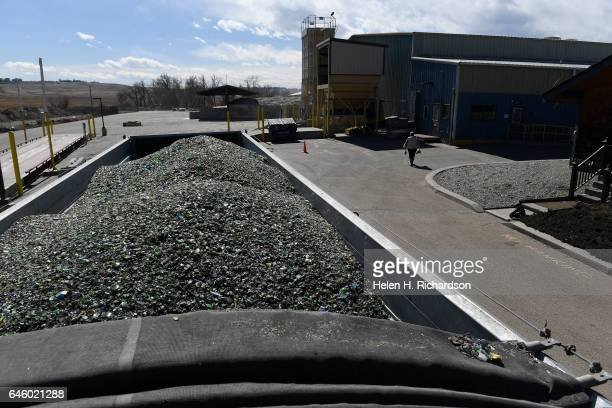 This is the final product of newly recycled glass ready to be trucked to bottling plants at the new state of the art Momentum Recycling plant on...