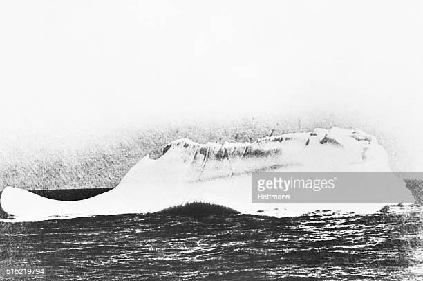 1912 This is the killer It is the actual iceberg which caused the British luxury liner Titanic to sink The 46000ton vessel was still going at a speed...