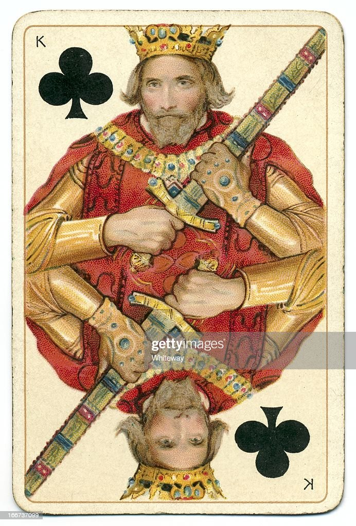 King of Clubs original Shakespeare antique playing card