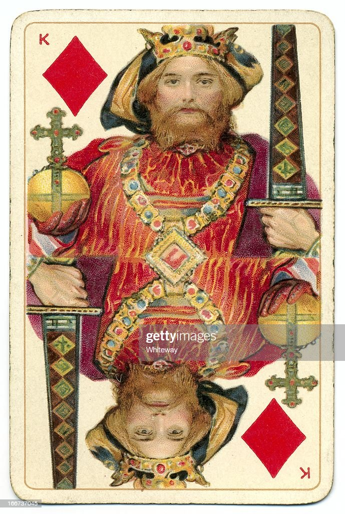 King of Diamonds original Shakespeare antique playing card