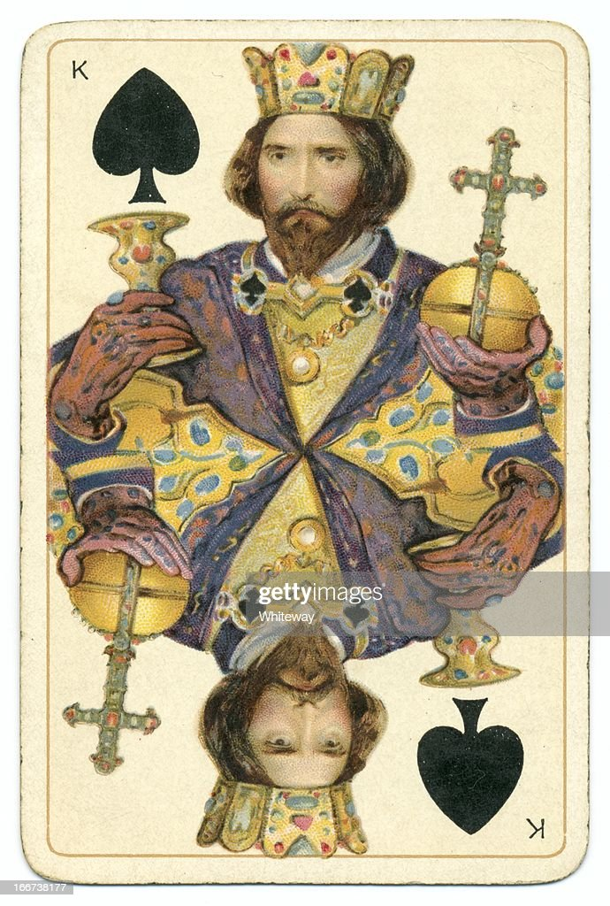 King of Spades original Shakespeare antique playing card
