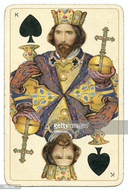 King of Spades Dondorf Shakespeare antique playing card