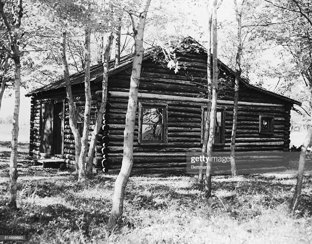 John foster dulles getty images for Log cabin retreat