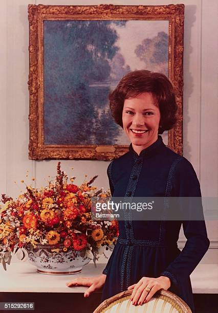 This is the official portrait of the First Lady Rosalynn Carter taken on February 18 in the Vermeil Room of the White House