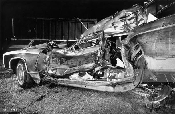 This is the remains of the car in which the wife and daughter of Delaware's US Senatorelect Joseph R Biden Junior were killed Neilia Biden and her...